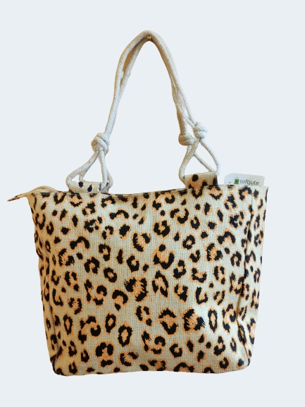 White bag with Cheetah pattern